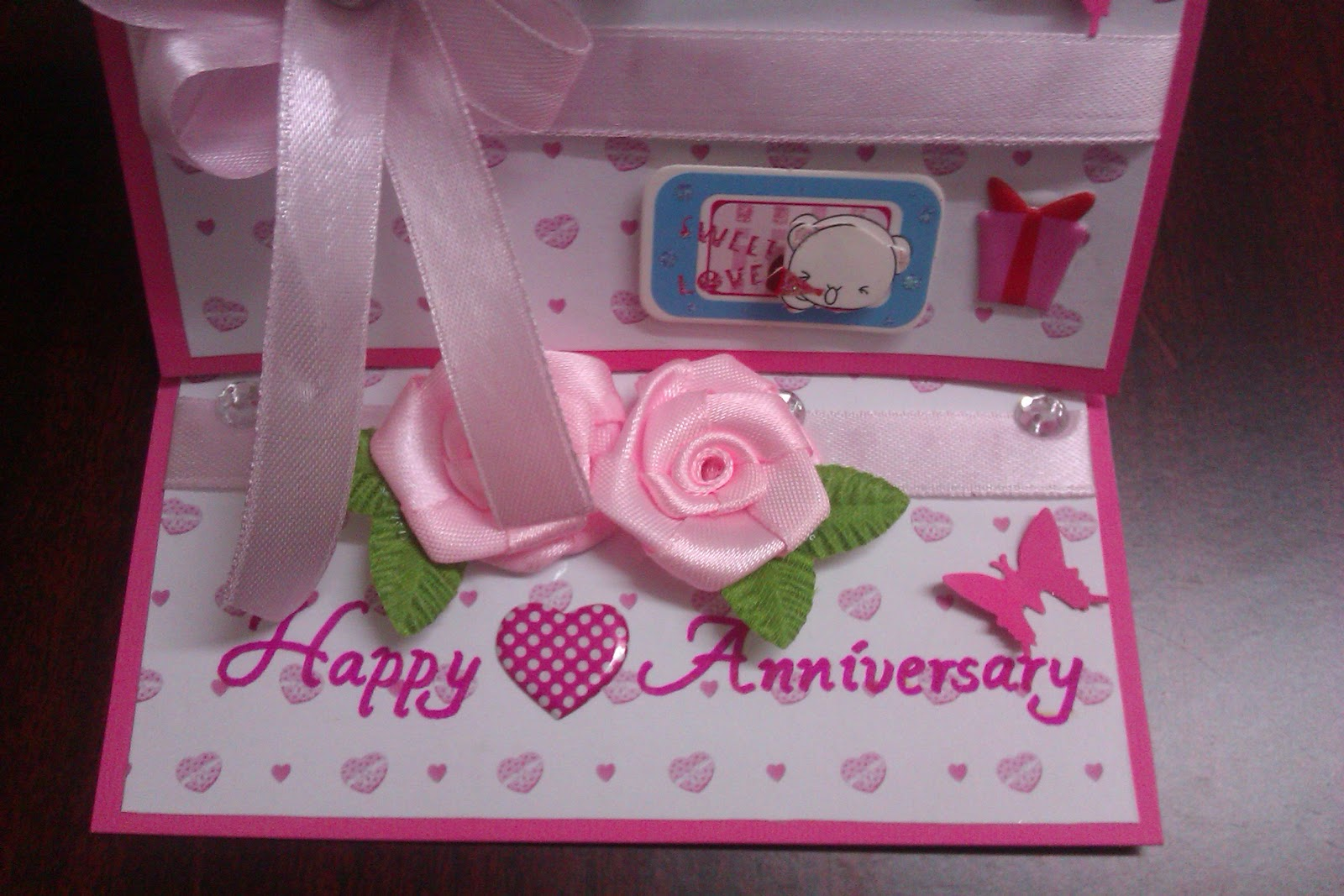 My artbook wedding anniversary easel card