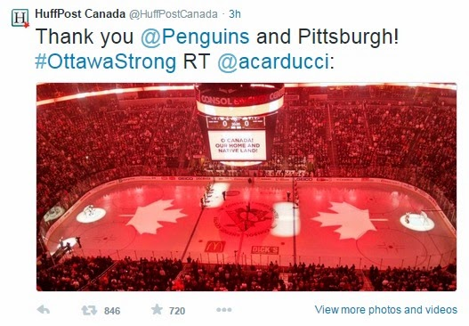 HuffPost shares Penguins' gesture to Ottawa