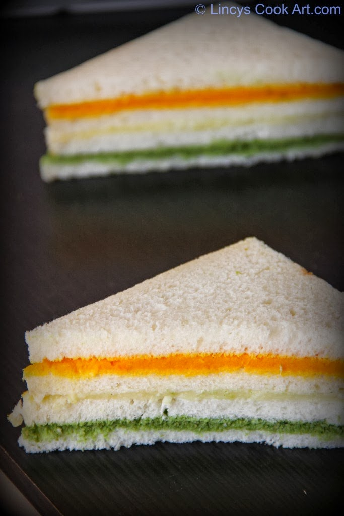 Colourful sandwich