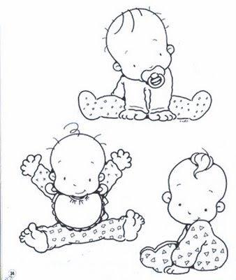 Desenhos e riscos de bebês