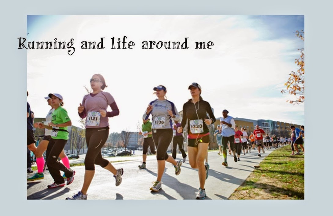 Running and life around me