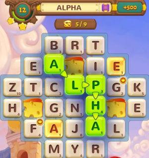 gioco parole e lettere