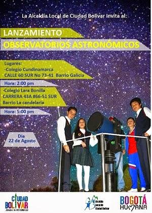 Observatorios Astronómicos en colegios Distritales