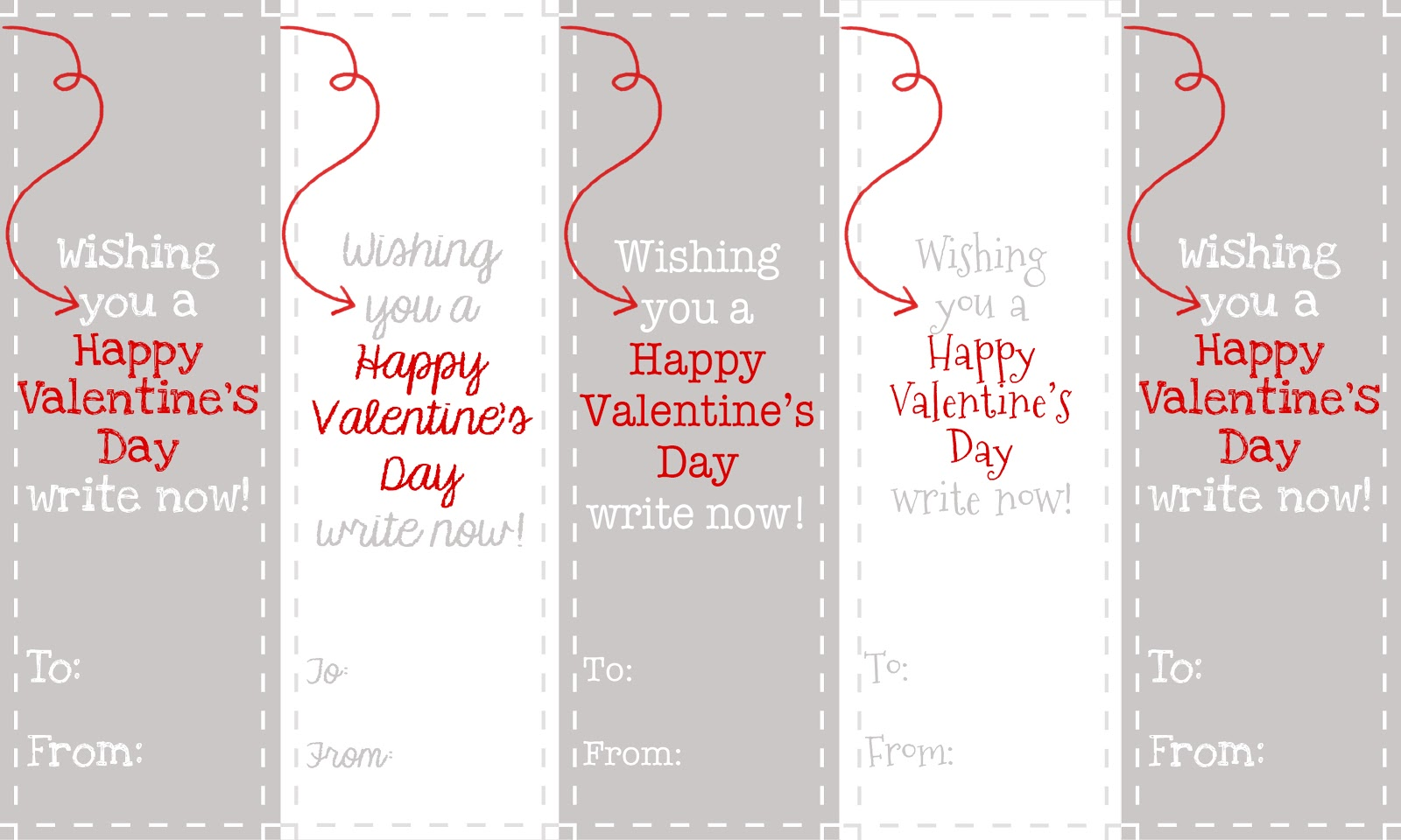 Valentine bookmark to color - From The Carriage House Valentine S Day Bookmarks Printable