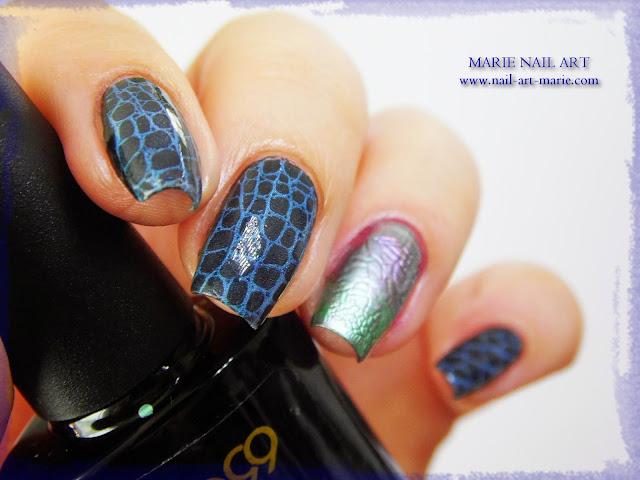 Nail Art Accent Nail Python Chromé10