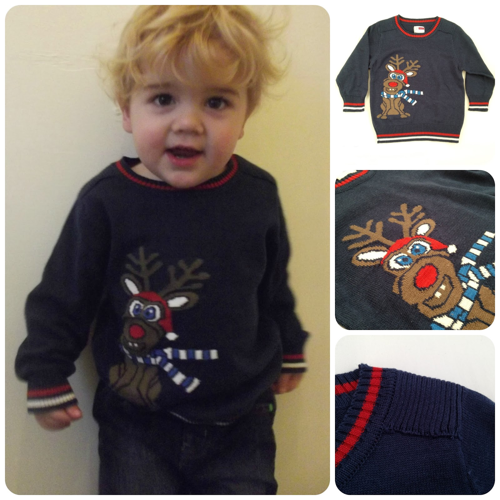 Little Beau Chic Peno Reindeer Jumper Review - My Mummys World