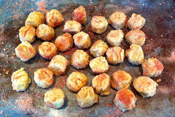 Fry's Pops - vegan popcorn chicken - cooked and ready to eat