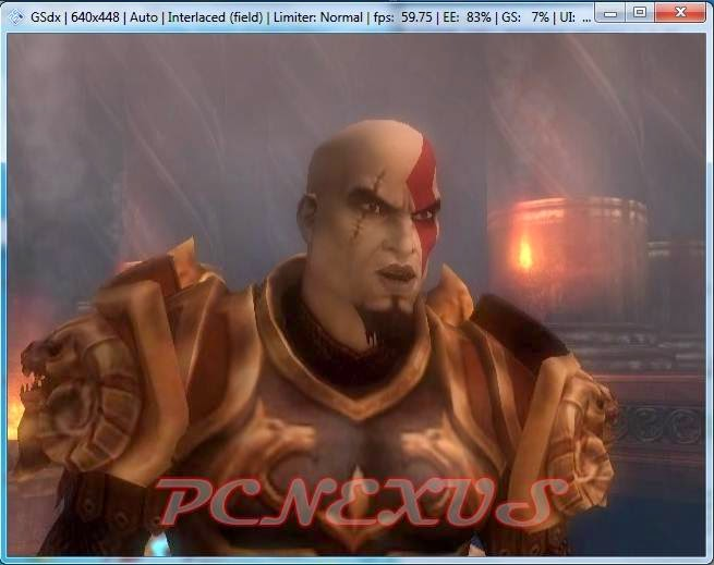 god of war 2 on Windows 7 with PCSX2