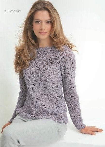 Sueter de mujer al crochet