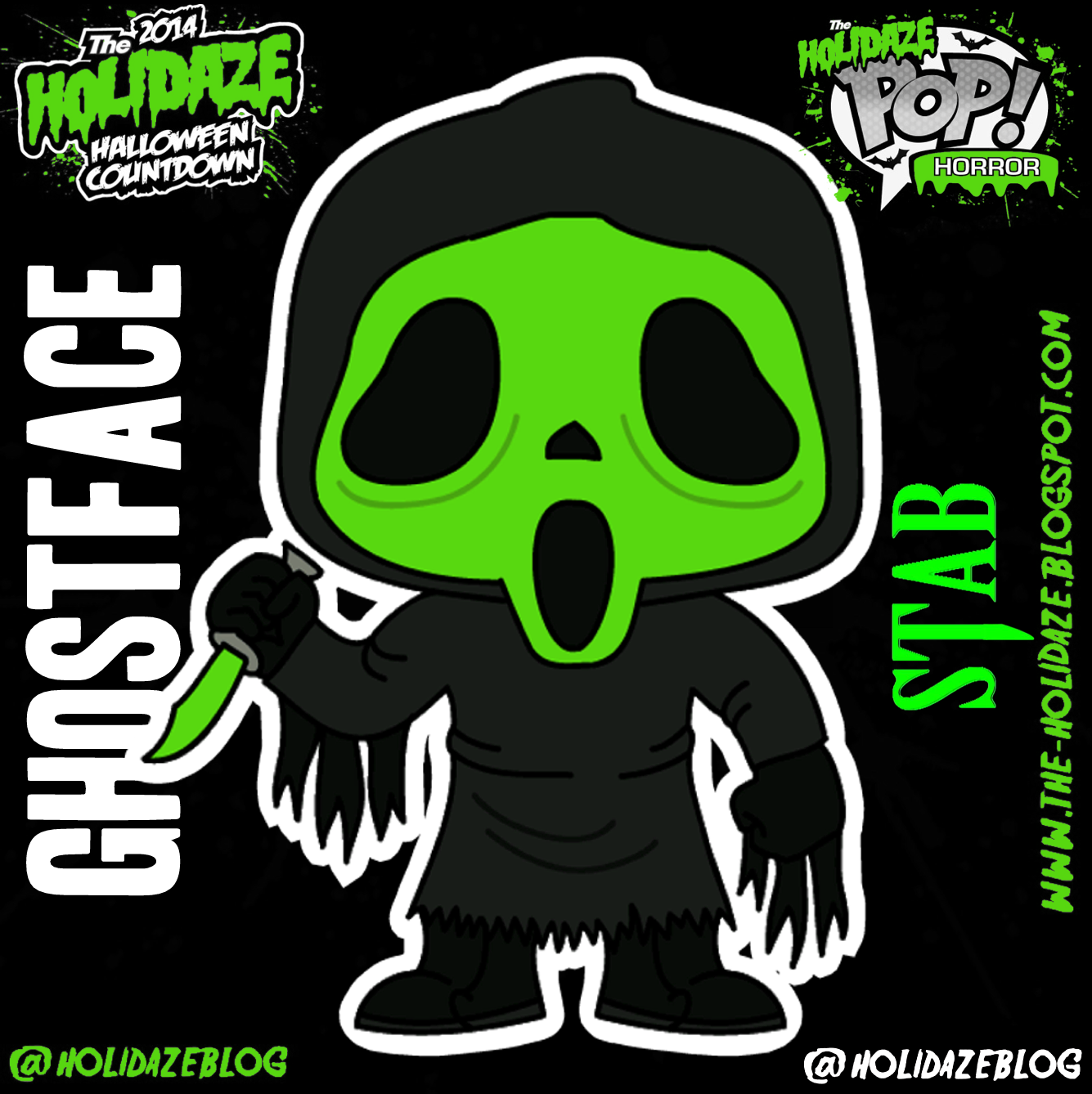 The Holidaze: Funko Holidaze Pop! - Ghostface (Stab Exclusive)