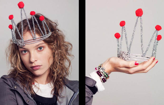 Fashion photoshoot for V Magazine titled Teenagers and Tiaras. Styling by Kelly Framel from the Glamourai, photography by Nick Heavican, starring Heloise Guerin, Mila Miletic and Kristina R