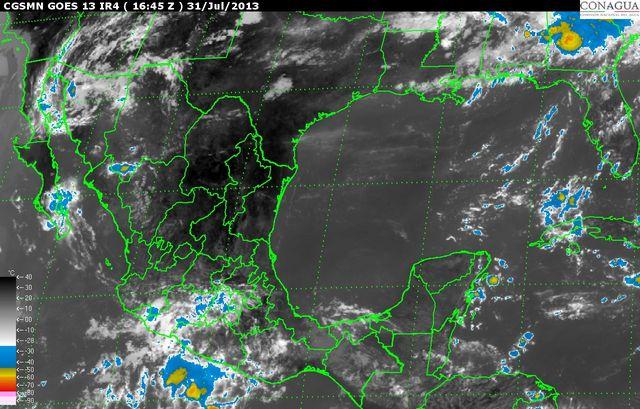 Potencial de lluvias fuertes a muy fuertes en el sureste