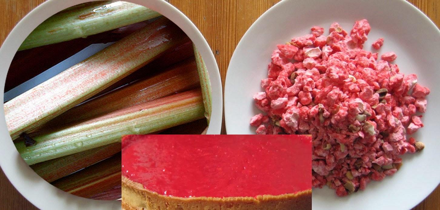 cuisine maison d 39 autrefois comme grand m re recette de tarte la rhubarbe et aux pralines. Black Bedroom Furniture Sets. Home Design Ideas