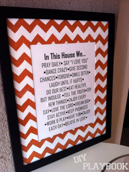 framed chevron stripes