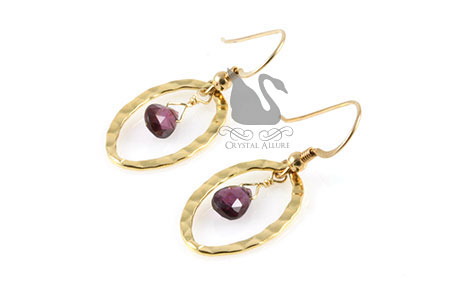 Rhodolite Garnet Gemstone Earrings (E171)
