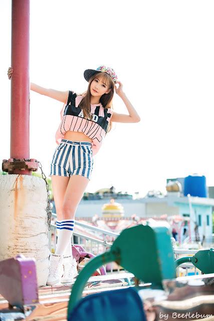4 Han Ga Eun - Outdoors Photo Shoot At Yongma Land - very cute asian girl-girlcute4u.blogspot.com