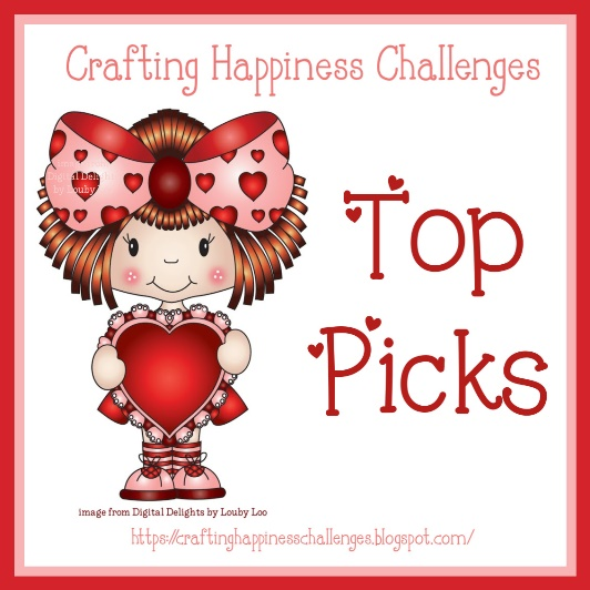 Most Liked Top Pick Card at Crafting Happiness Challenge blog
