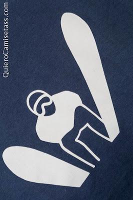 Camiseta Hombre Esquí Tienda Online de Camisetas QuieroCamisetass.com