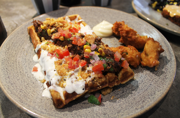 The Paramount Coffee Project, Surry Hills, Coca cola ox cheek waffle