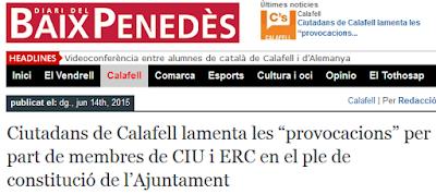 http://www.diaribaixpenedes.cat/ciutadans-de-calafell-lamenta-les-provocacions-per-part-de-membres-de-ciu-i-erc-en-el-ple-de-constitucio-de-lajuntament/