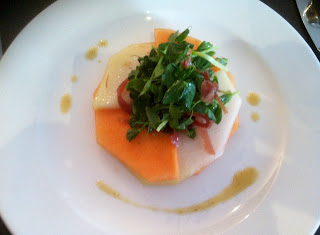 Carmarthen ham and melon salad at ffresh
