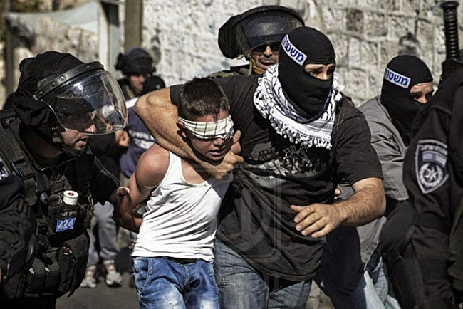 Palestinian children abused by Israeli police dog
