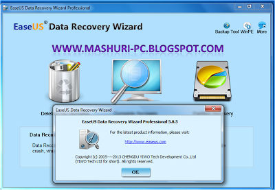 Download : EaseUS Data Recovery Wizard Professional 5.8.5 - [6 MB]