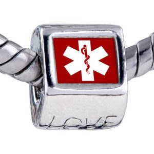 Medical Charms, Medical ID Charms with Bracelet |Med IDs