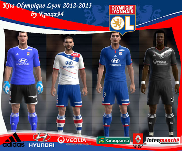 PES 2013 Olympique Lyon 2012/13 Kits Techfit by Kpoxx94
