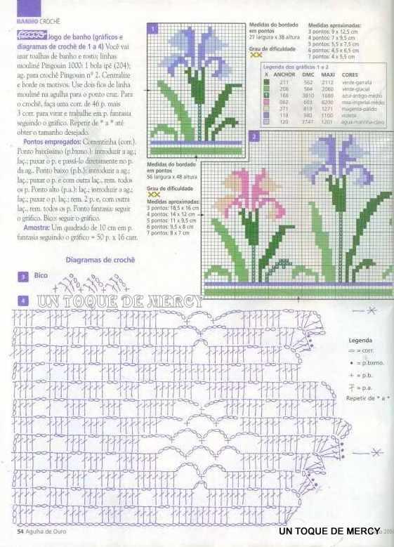 Dibujos de flores en crucetas - Imagui