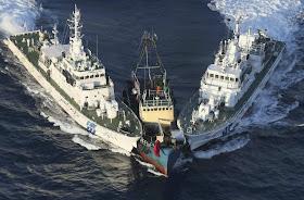 Kai Fung 2 and Japan Coast Guard