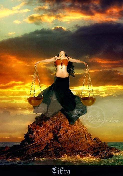 Zodiaco mujer contra el poder del Mar, signo Libra