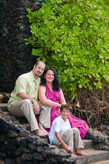 Maui family portrait at Lady by Choice