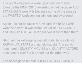netizens dismayed over MMFF results