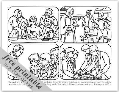 Coloring Pages on Year Of Fhe  2011   Wk 40  The Sacrament