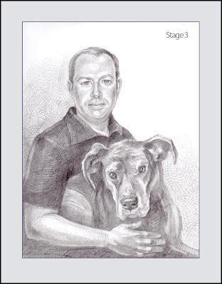 portrait de chien étape 3