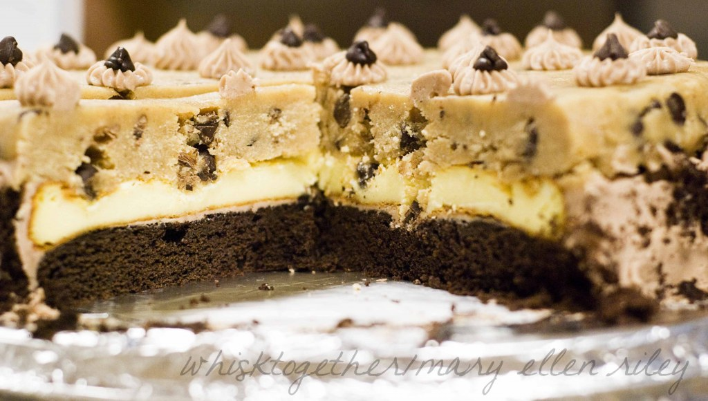 No Bake Cheesecake With Chocolate Chip Cookie Crust
