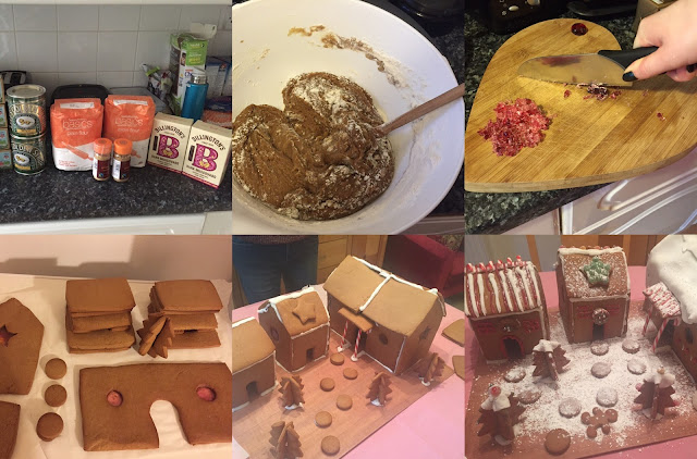 making a gingerbread village