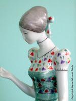 Hollohaza Hungarian Porcelain 1831 Seamstress Close-Up