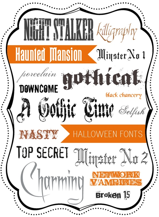 free halloween fonts for macbook
