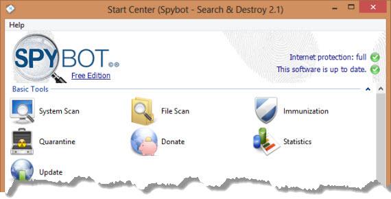 Elimina el malware con el renovado SpyBot