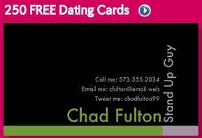 dating cards vistaprint