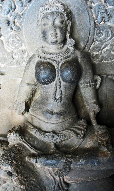 defaced sculpture are Ellora