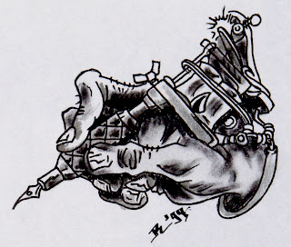 Tatto Machine on Tattoo Machine Drawing
