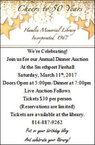 3-11 Hamlin Library Annual Dinner Auction