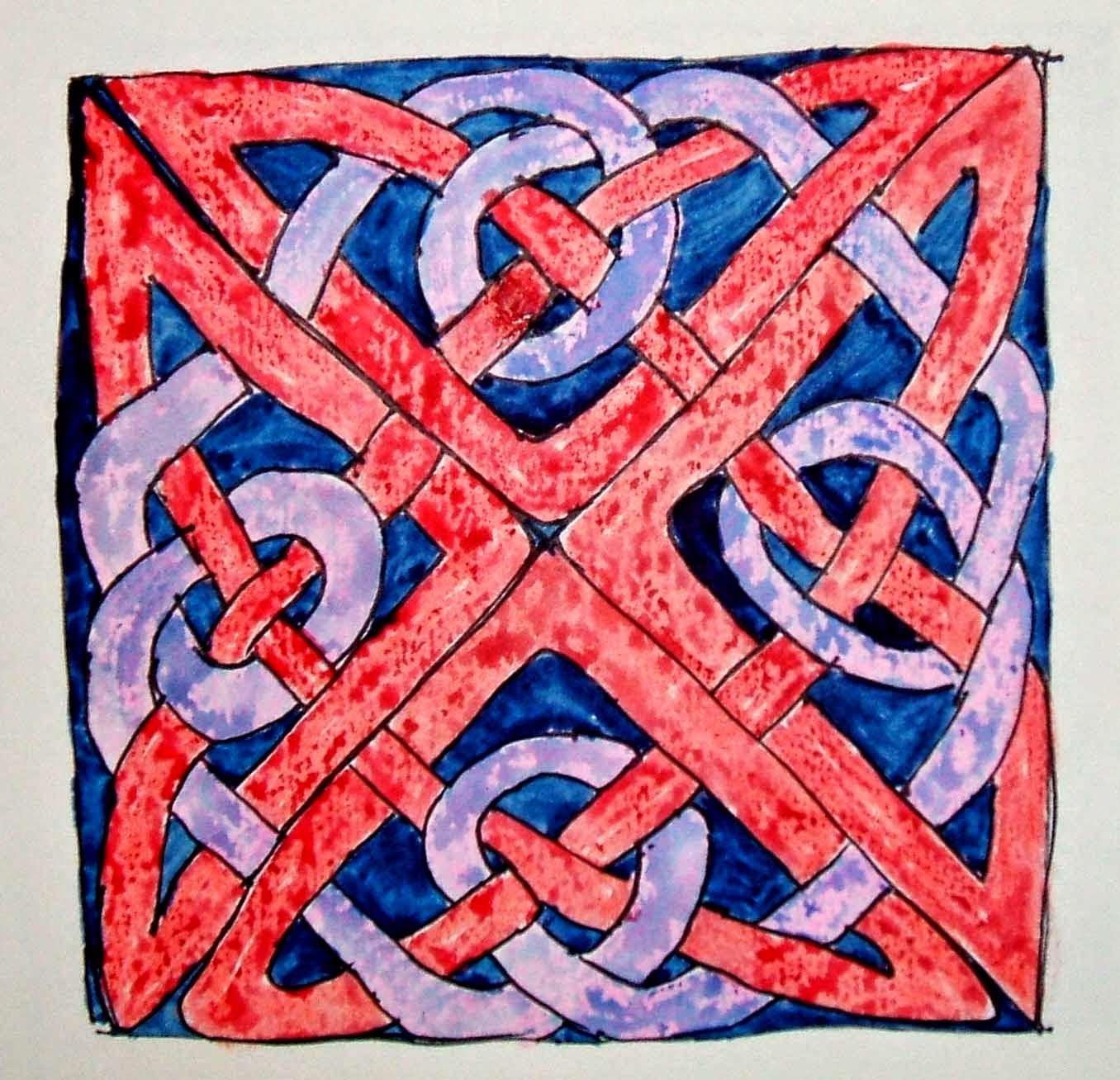 Anglo Saxon knotwork at Britford, Wiltshire
