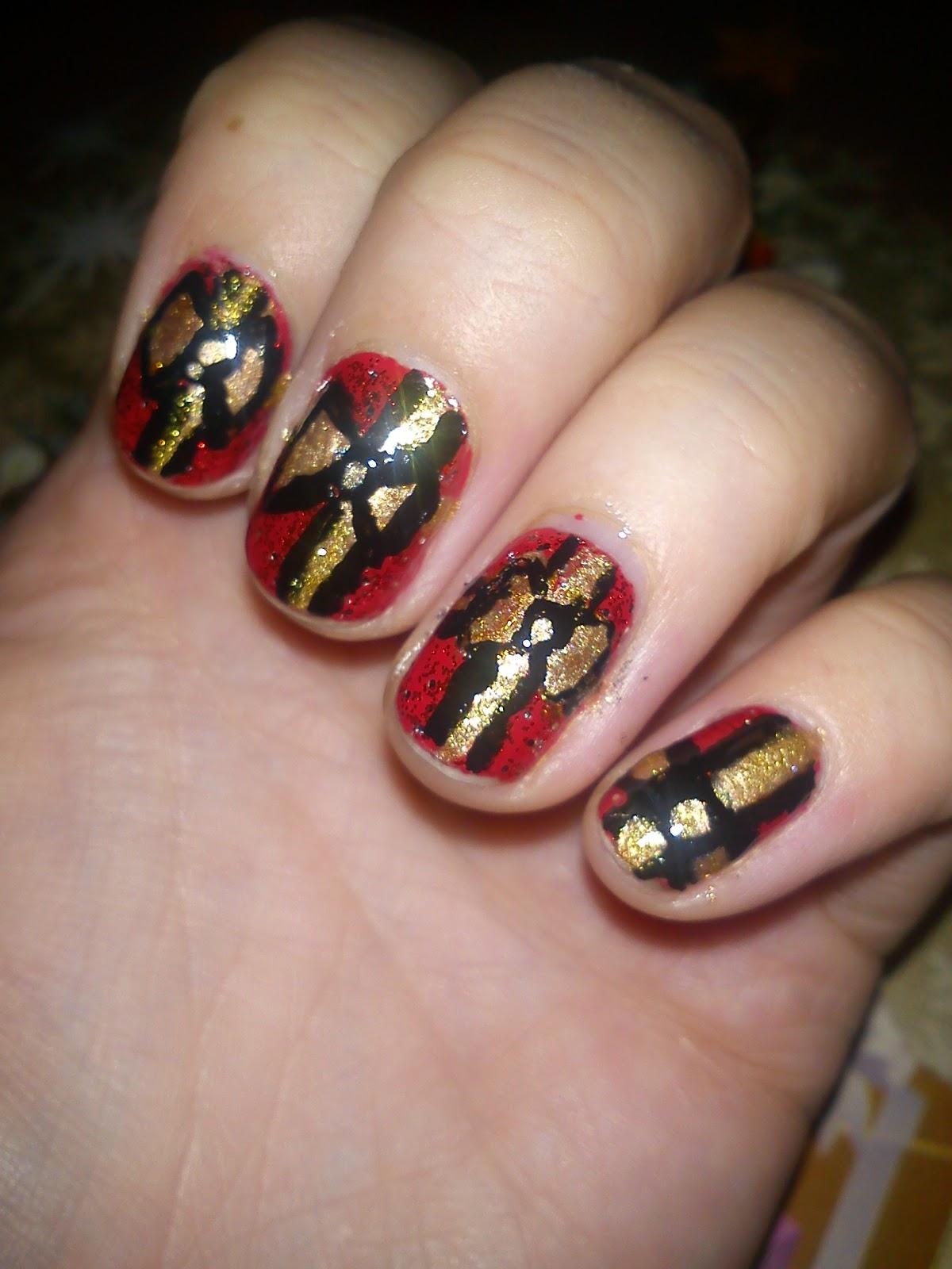 Happy Bubble Gal: Xmas nail art - Presents, Bows & Santa Hats