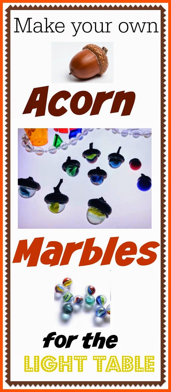 acorn marble craft light table