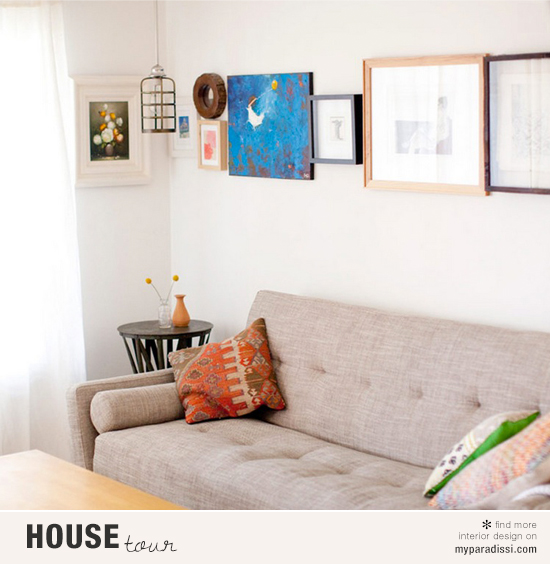 The small yet cozy 600 square feet apartment of Annie McElwain in Venice, California via Houzz