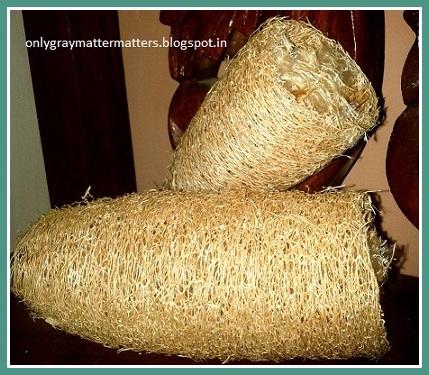 DIY natural loofah bath sponge
